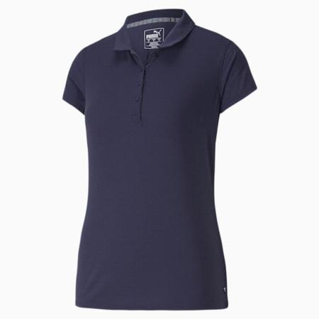 Damska koszulka polo Fusion Mesh, Peacoat, small
