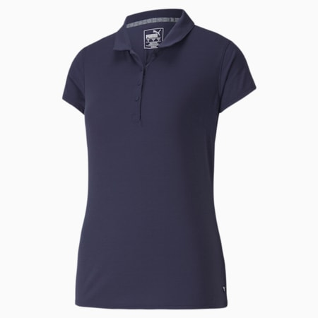 Fusion Mesh Golfpolo voor dames, Peacoat, small