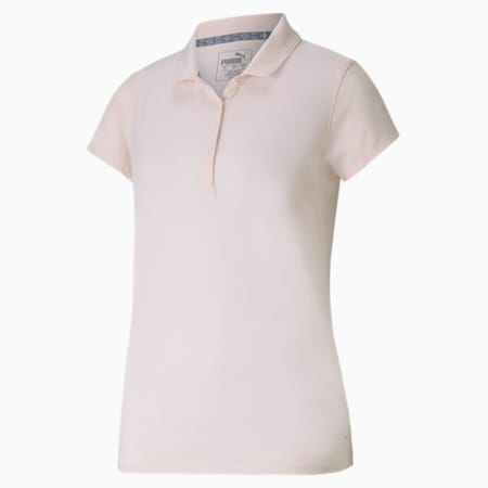 Fusion Mesh Women's Golf Polo, Rosewater, small