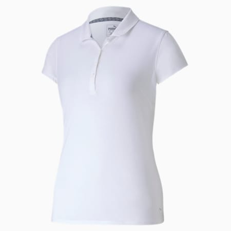 Fusion Mesh Golfpolo voor dames, Bright White, small