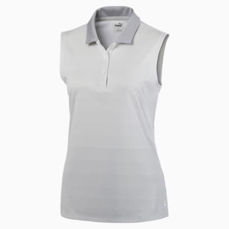 Ombre Women's Sleeveless Polo, Bright White, small