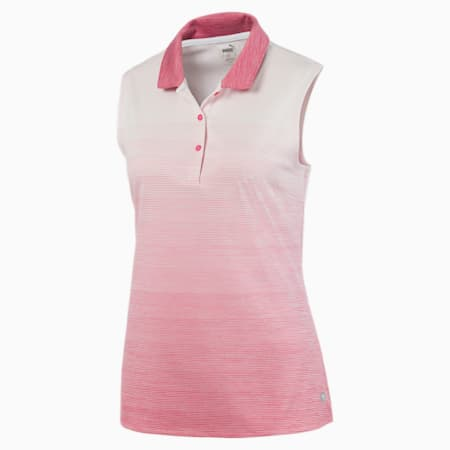 Ombre Women's Sleeveless Polo, Rapture Rose, small