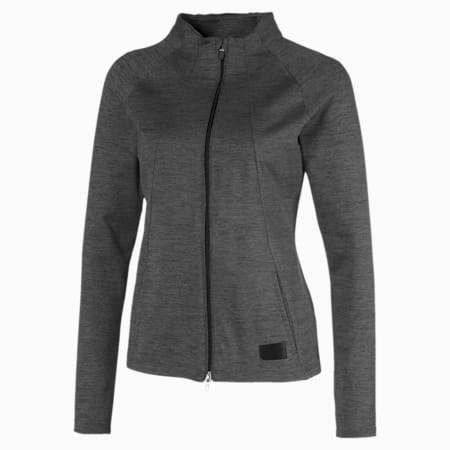 클라우드 스펀 웜업 자켓/Cloudspun W Warm Up Jacket, Puma Black Heather, small-KOR