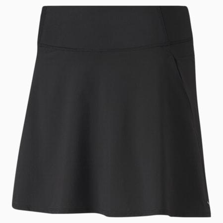 PWRSHAPE Solid Woven Women's Golf Skirt, Puma Black, small-SEA