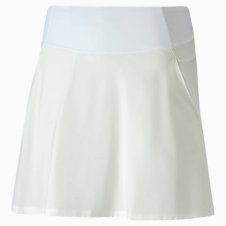 PWRSHAPE Solid Damen Golf Gewebter Rock, Bright White, small