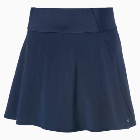 PWRSHAPE Solid Woven Women's Golf Skirt, Peacoat, small