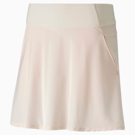 PWRSHAPE Solid Woven Women's Golf Skirt, Rosewater, small