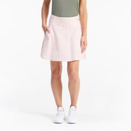 PWRSHAPE Solid Woven Women's Golf Skirt, Peachskin, small