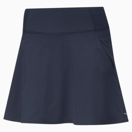 PWRSHAPE Solid Woven golfrok voor dames, Navy Blazer, small