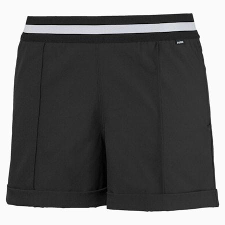 Elastic Women's Golf Shorts, Puma Black, small-SEA
