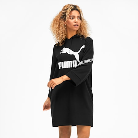 CLASSICS テープ ウィメンズ フーデッド ドレス, Puma Black, small-JPN