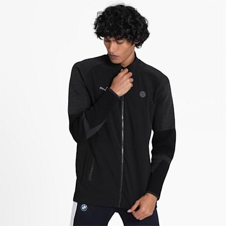 BMW Motorsport Reflective Tec evoKNIT Men's Sweater, Puma Black, small-IND