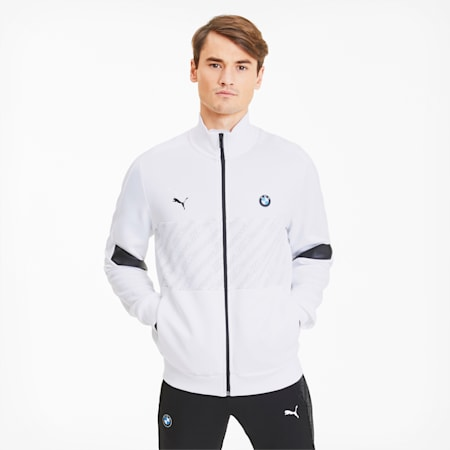 BMW M Motorsport Men's Track Jacket, Puma White, small