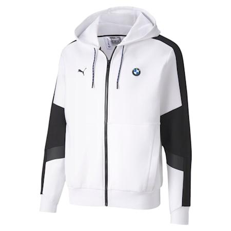 BMW M Motorsport Hooded Sweat Jacket, Puma White, small-IND