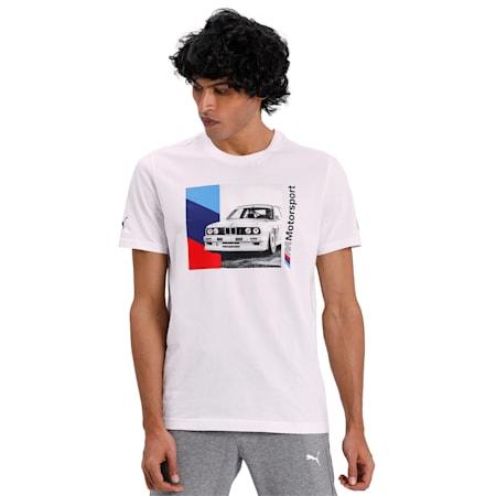 BMW M Motorsport Graphic T-Shirt, Puma White, small-IND