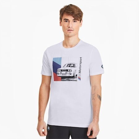 BMW M Motorsport Men's Graphic Tee, Puma White, small