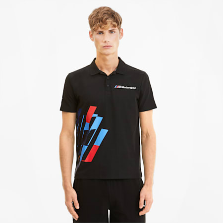 BMW M Motorsport Graphic Men's Polo, Puma Black, small-SEA
