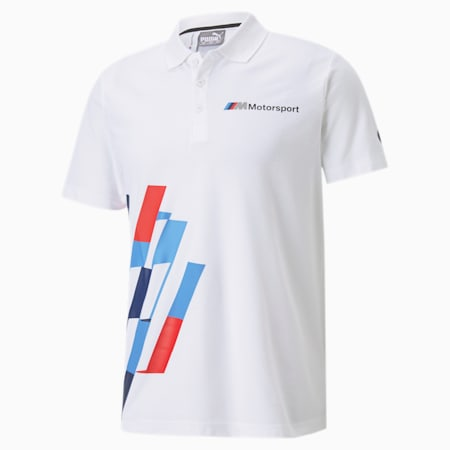 BMW M Motorsport Graphic Men's Polo, Puma White, small-SEA