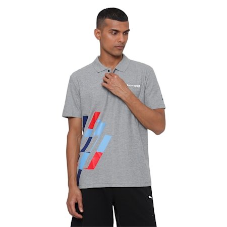 BMW MMS Graphic Polo, Medium Gray Heather, small-IND