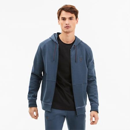 Scuderia Ferrari Men's Hooded Sweat Jacket, Dark Denim, small