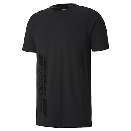 Ferrari Logo T-Shirt, Puma Black, small-IND