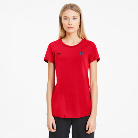 Scuderia Ferrari Women's Small Shield Tee, Rosso Corsa, small