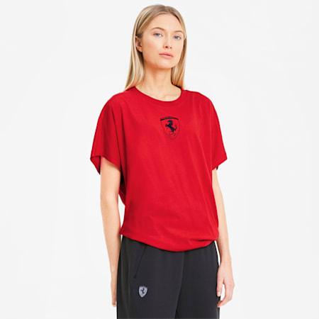 Scuderia Ferrari Big Shield Women's Tee, Rosso Corsa, small