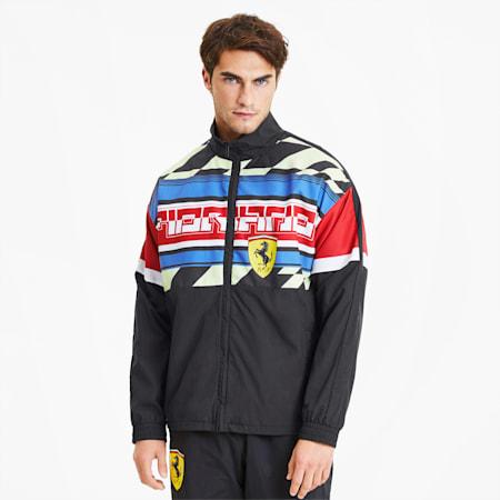 Scuderia Ferrari Woven Men's Motorsport Jacket, Puma Black, small