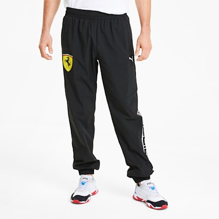 Scuderia Ferrari Street Woven Men's Pants, Puma Black, small-SEA