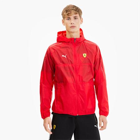 Scuderia Ferrari T7 City Runner Men's Jacket, Rosso Corsa, small