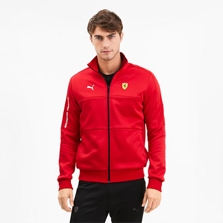 Scuderia Ferrari T7 Men's Track Jacket, Rosso Corsa, small-SEA