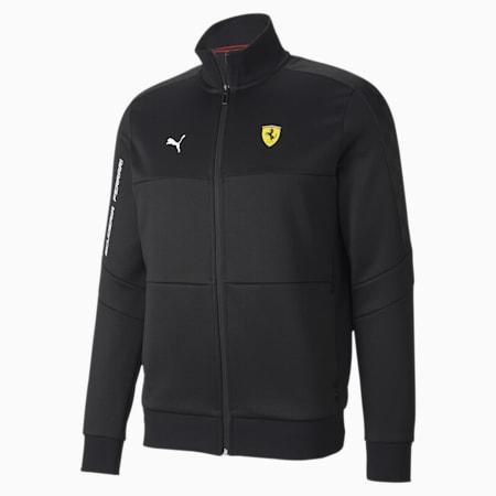 Scuderia Ferrari T7 Men's Track Jacket, Puma Black, small-SEA