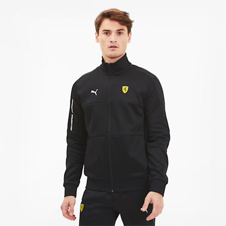 Scuderia Ferrari T7 Men's Track Jacket, Puma Black, small