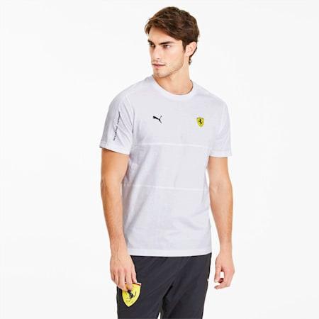 Scuderia Ferrari T7 T-shirt voor heren, Puma White, small