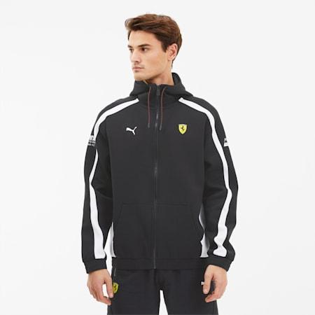 Scuderia Ferrari Hooded Men's Sweat Jacket, Puma Black, small