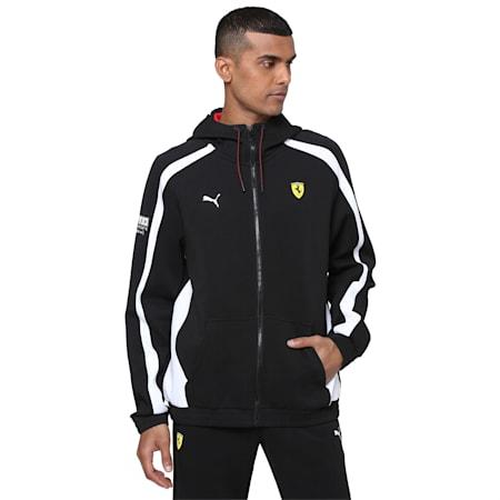 Scuderia Ferrari Men's Hooded Sweat Jacket, Puma Black, small-IND