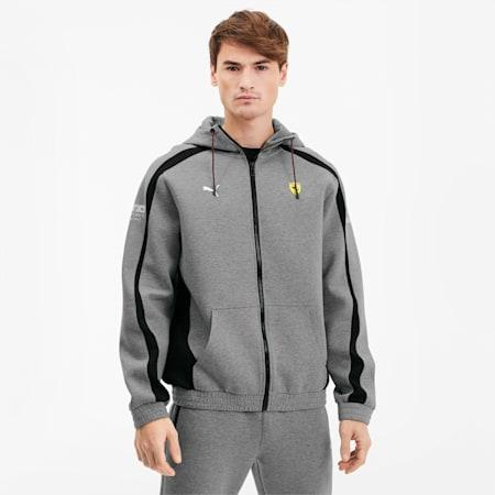 Chaqueta deportiva Scuderia Ferrari con capucha, para hombre, Medium Gray Heather, pequeño