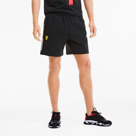 Scuderia Ferrari Men's Sweat Shorts, Puma Black, small-SEA