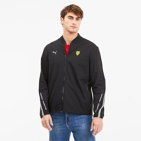 Scuderia Ferrari Lightweight Men's Sweat Jacket, Puma Black, small