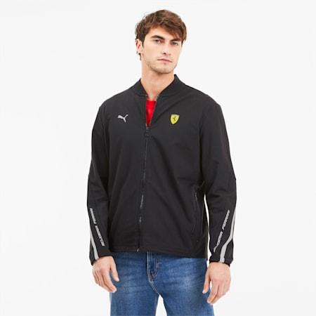 Scuderia Ferrari Men's Lightweight Sweat Jacket, Puma Black, small