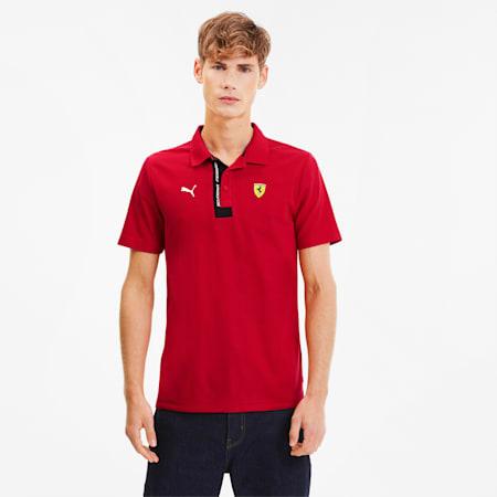 Scuderia Ferrari Men's Polo, Rosso Corsa, small-SEA