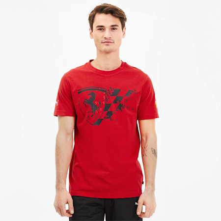Scuderia Ferrari Men's Big Shield Tee+, Rosso Corsa, small