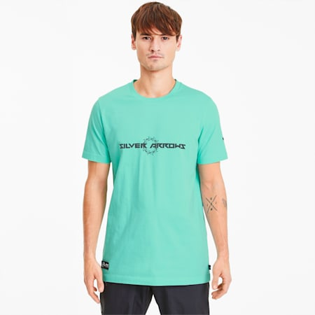 Mercedes AMG Petronas Street Men's Tee, Green Glimmer, small