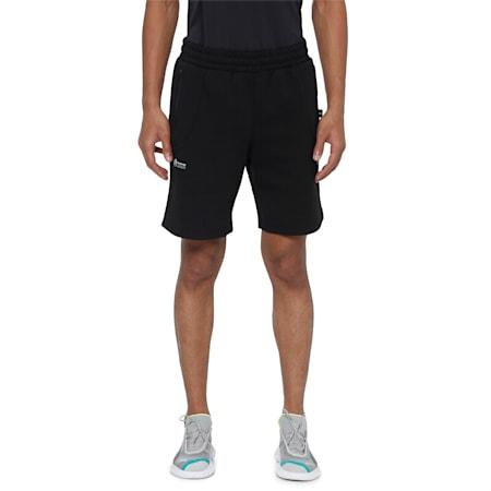 Mercedes Men's Sweat Shorts, Puma Black, small-IND