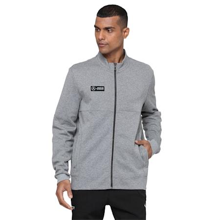 Mercedes Men's Sweat Jacket, Medium Gray Heather, small-IND
