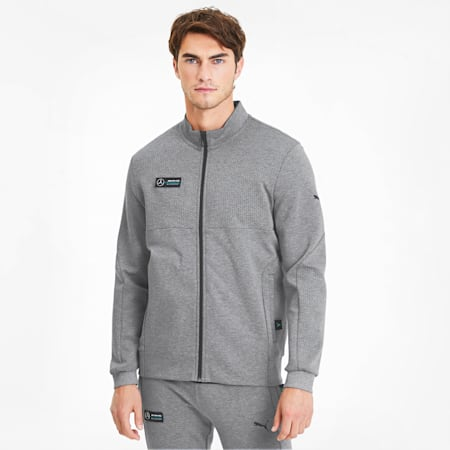 Mercedes AMG Petronas Men's Sweat Jacket, Medium Gray Heather, small