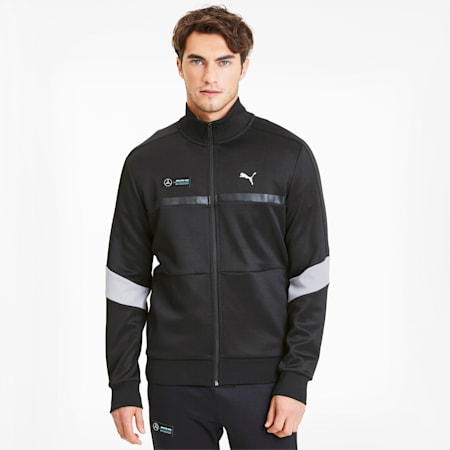 Mercedes AMG Petronas Men's T7 Track Jacket, Puma Black, small