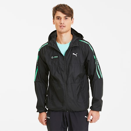 Mercedes AMG Petronas Men's T7 City Runner Jacket, Puma Black, small