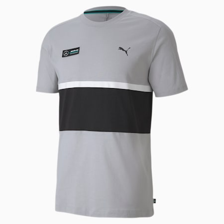 T-shirt Mercedes AMG Petronas T7, homme, Argent équipe Mercedes, petit