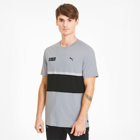 Mercedes-AMG Petronas Men's T7 Tee, Mercedes Team Silver, small
